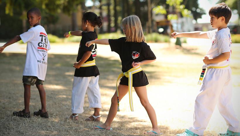 taekwondo in the park