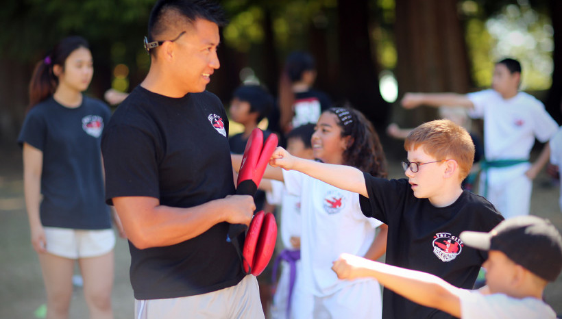 Taekwondo in the park - summercamp